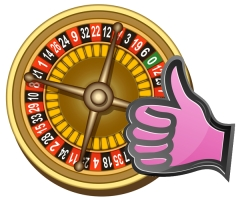 illustration of roulette board on white background