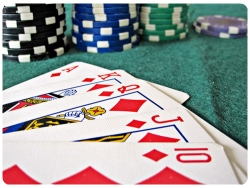 A Royal Flush, the most powerful hand in Poker